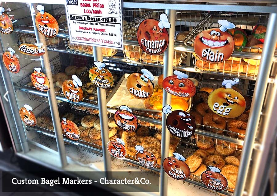 Cute Bagel Character Markers for your Bagel Case