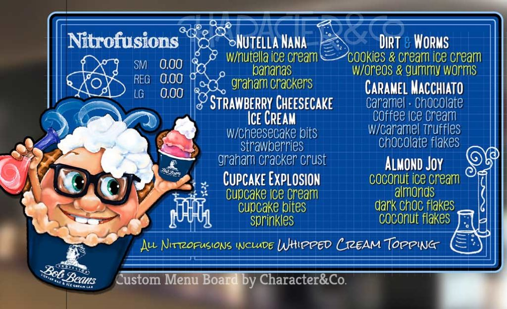 Custom Menu Board for Bob's Beans - Nitrofusions!