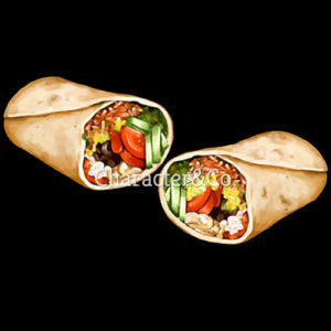 Mexican Wrap Art for Menu Boards