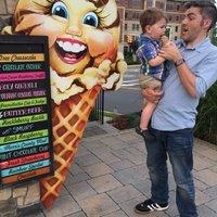Hayeks Market Ice Cream sidewalk sign