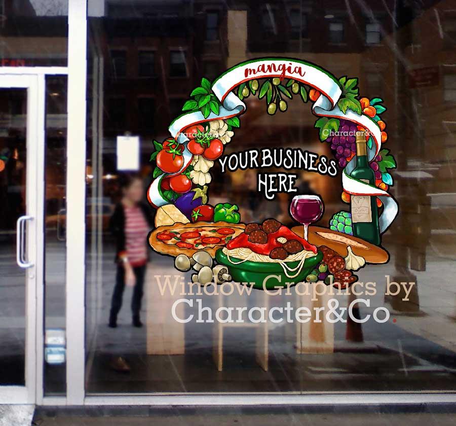 Window Graphics Italian Restaurant Pizzeria