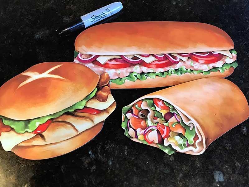 Menu board food artwork - Sandwiches