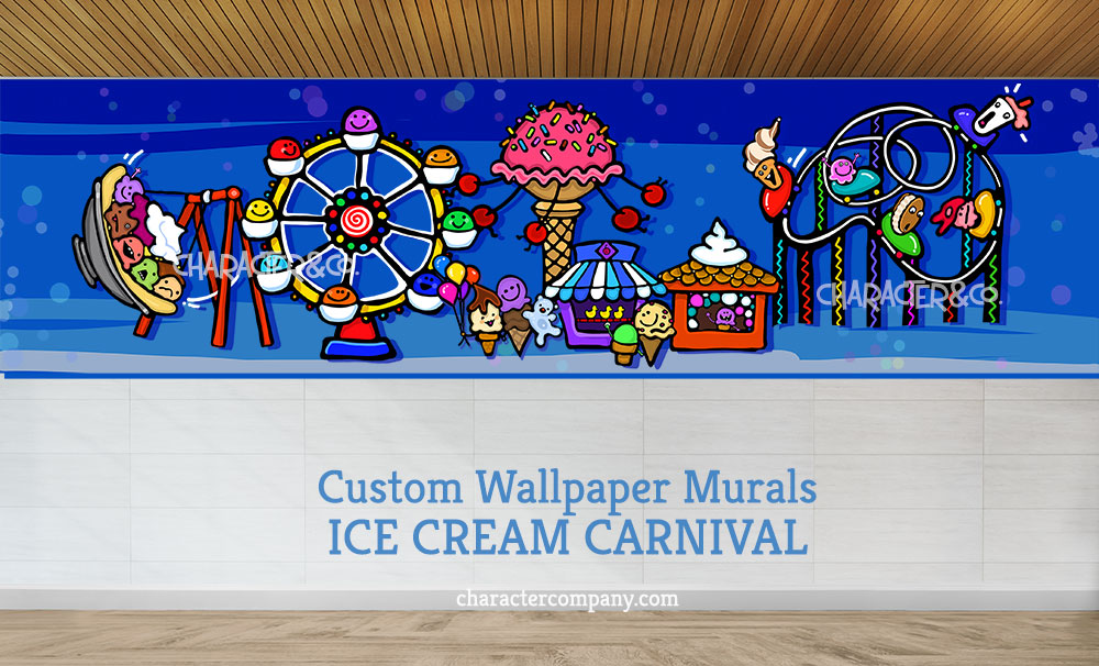 Ice Cream Carnival wallpaper mural Character Co