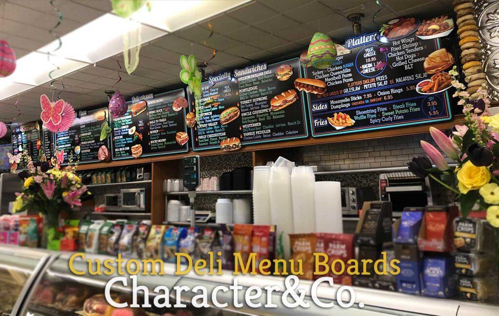 Custom Deli Menu Boards Character Co