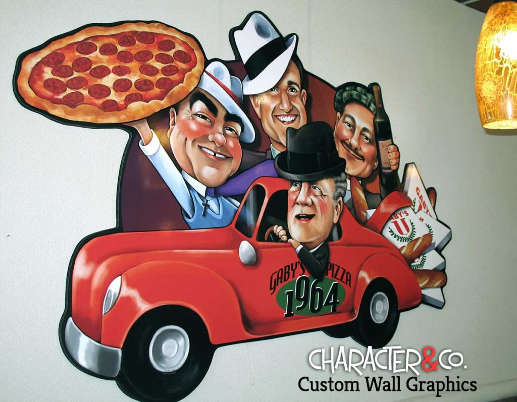 Custom Painted Restaurant Wall Art Character Co