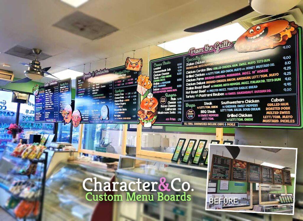 Fun Custom Menu Boards for Bagel Business